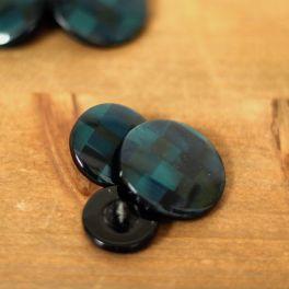 Fantasy resin button - blue