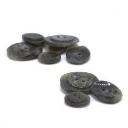 Resin button - marbled grey