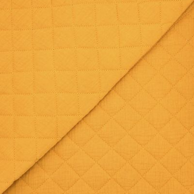Quilted double cotton gauze - mustard yellow