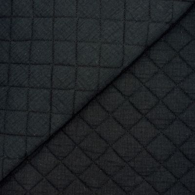 Quilted double cotton gauze - black