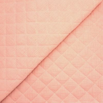 Quilted double cotton gauze - blush pink