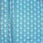 Fabric with fan pattern - baltic sea blue