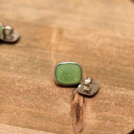 Fantasie knoop - groen en zilver