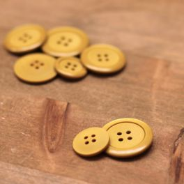 Resin button - mustard yellow