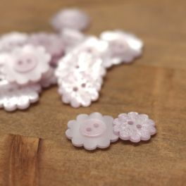 Flower button - parma pink
