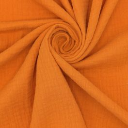 Double cotton gauze  - burnt orange