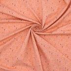 Tissu jersey saumon imprimé