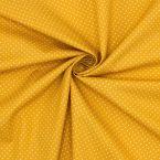 Tissu coton pois - moutarde