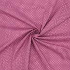 Tissu en coton à pois sur fond rose balai
