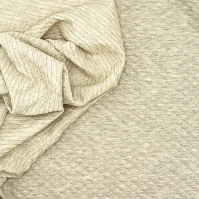 Double-sided sweater fabric with Lurex - grey