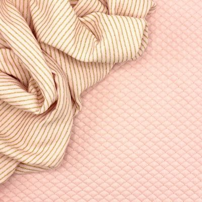 Tissu sweat double face rose avec Lurex
