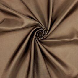 Doublure en polyester et viscose brune