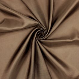 Satinized lining fabric - brown