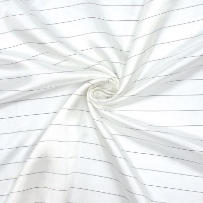 Satinized lining fabric with black stripes
