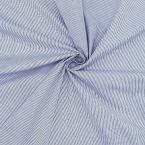 Lining fabric with cotton aspect and stripes - navy blue