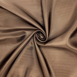 Satinized twill lining fabric - brown