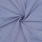 Doublure aspect coton à rayures bleues