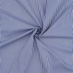 Lining fabric with cotton aspect and blue stripes