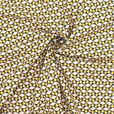 Printed cotton with triangles