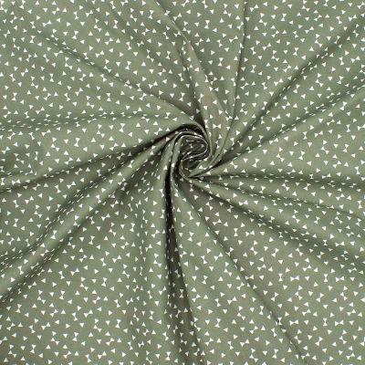 Cotton with triangles - khaki background