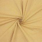 Tissu coton à triangles sur fond moutarde