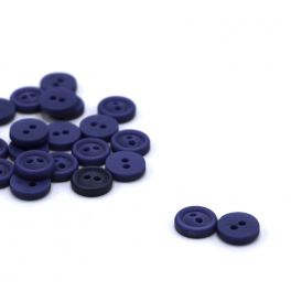 Round resin button - blue