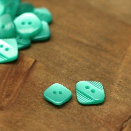 Resin button - emerald