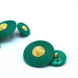 Bouton vert et doré