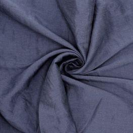 Stof in viscose en linnen - marineblauw