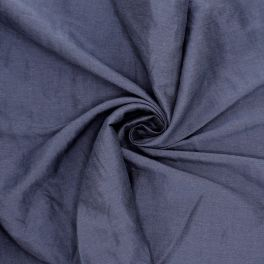 Viscose and linen fabric - navy blue