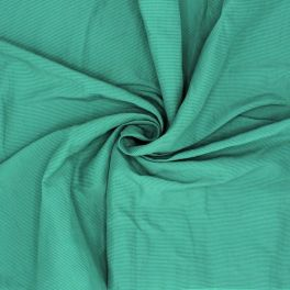 Polyester and cotton fabric with stripes - green