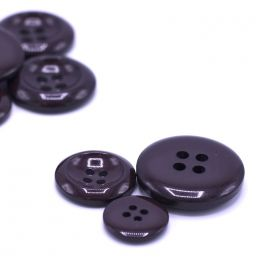 Resin button - eggplant color