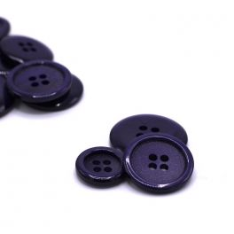Resin button - purple