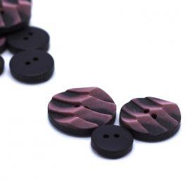 Ronde knoop in hars - roos en zwart
