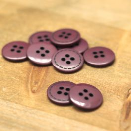 Round button 18mm - plum