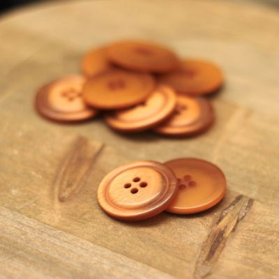 Button 25mm - burnt orange