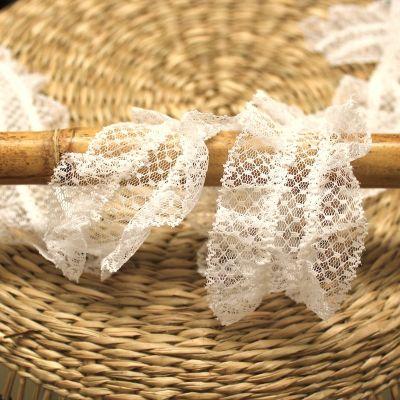 Gathered tulle - white