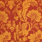 Printed satin of cotton - brick red background