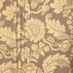 Printed satin of cotton - beige background