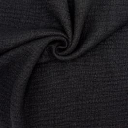 Wool with boiled wool aspect - black