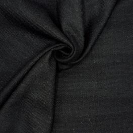 Tissu en laine souple noire