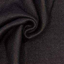 Tissu en laine épaisse et souple noire