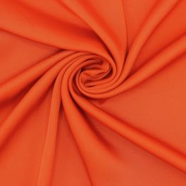 Fabric in satin and polyester - red orange