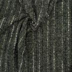 Wool fabric with stripes - kaki