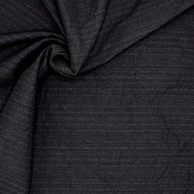 Tissu extensible à rayures bleues et noires