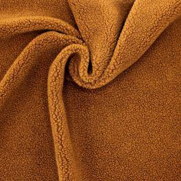 Tissu fausse fourrure mouton brun