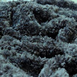 Fausse fourrure ardoise en polyester