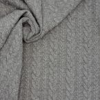 Jersey fabric with twisted pattern - light grey