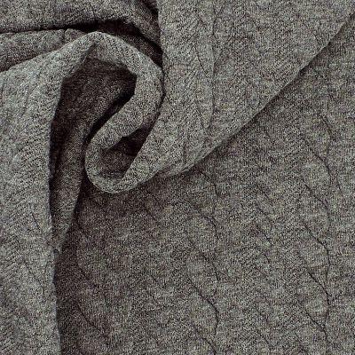 Tissu jersey  à motif torsade gris