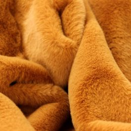 Faux fur with smooth fur - camel